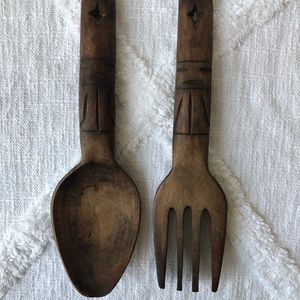 Handcrafted Wooden Fork + Spoon